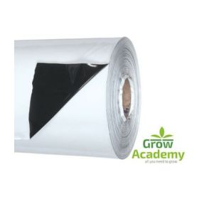 BLACK/WHITE GROW SHEET 2X1M X 70MU