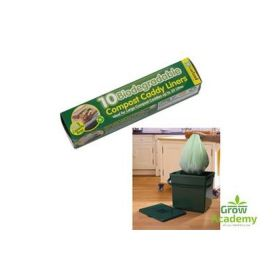 G116 BIODEGRADABLE 30L COMPOST CADDY BAGS ROLL OF