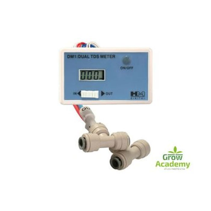 Dm1 In Line Dual Tds Meter With1/4 T-Fittings