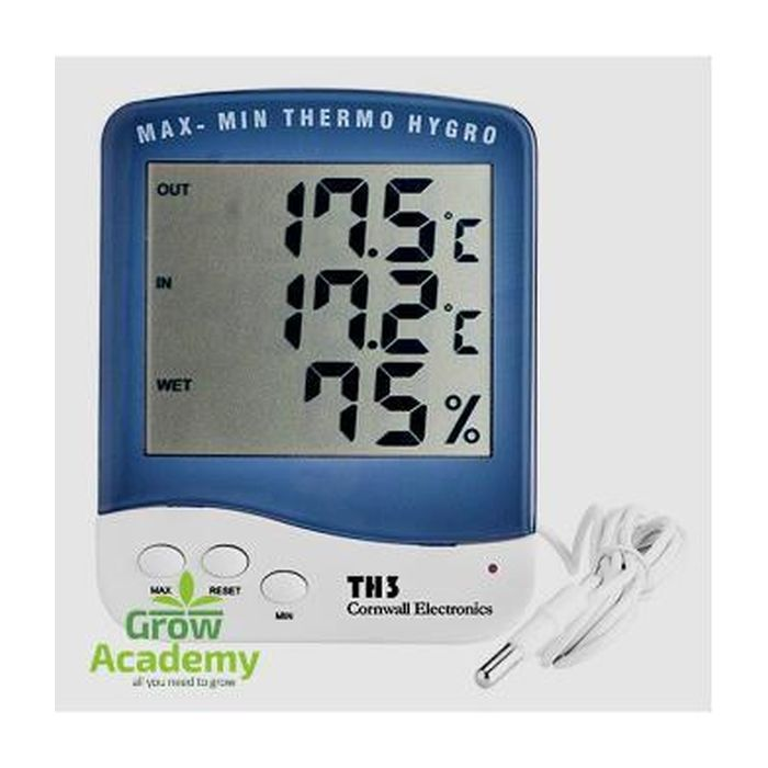 Thermohygrometer Big Screen With Bore Cornwall