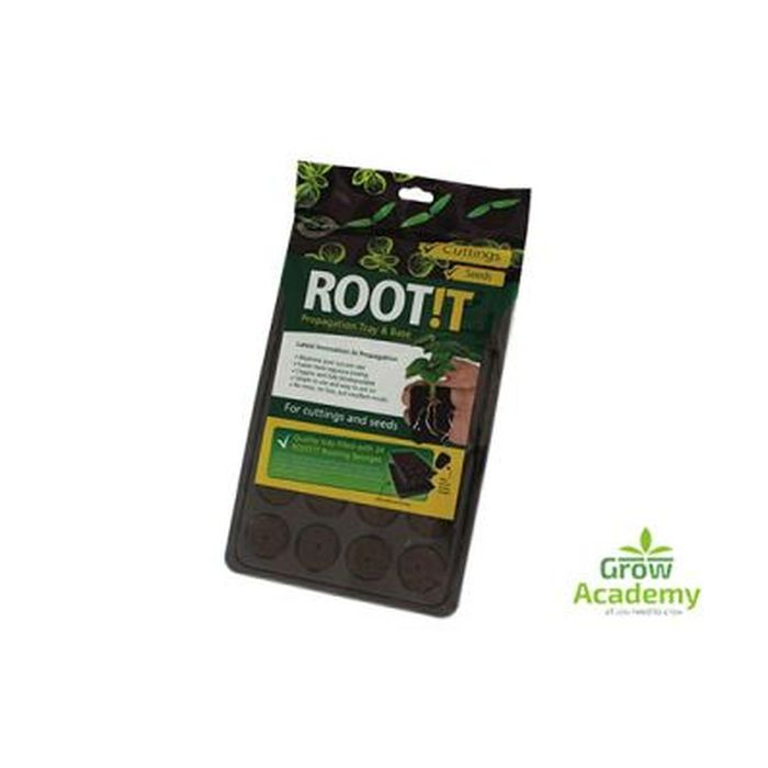 Root!T Natural Rooting Sponge 24 Cell Filled Tray